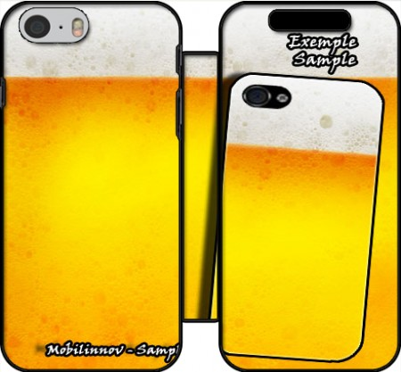 Wallet Case Beer with Foam(Moss) for Iphone 6 4.7