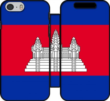 Wallet Case Cambodge Flag for Iphone 6 4.7