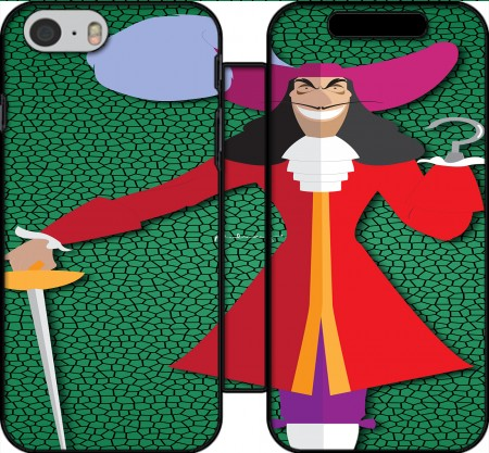 Wallet Case Captain Hook for Iphone 6 4.7