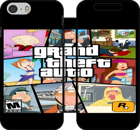 Wallet Case Family Guy mashup GTA for Iphone 6 4.7