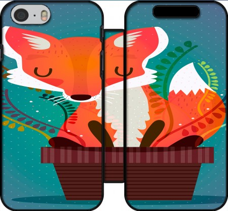Wallet Case Fox in the pot for Iphone 6 4.7