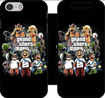 Wallet Case Grand Theft Mario for Iphone 6 4.7