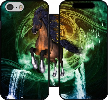 Wallet Case Horse with blue mane for Iphone 6 4.7