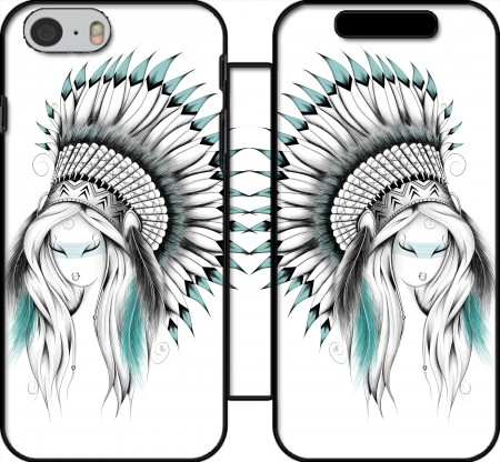 Wallet Case Indian Headdress for Iphone 6 4.7