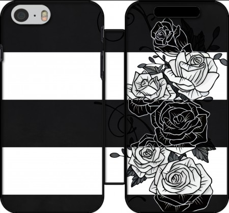 Wallet Case Inverted Roses for Iphone 6 4.7