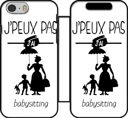 Wallet Case Je peux pas jai babystting comme Marry Popins for Iphone 6 4.7