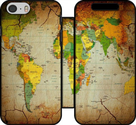 Wallet Case World Map for Iphone 6 4.7