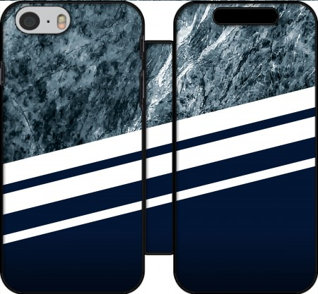 Wallet Case Marble Navy for Iphone 6 4.7