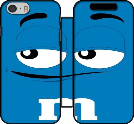 Wallet Case M&M's Blue for Iphone 6 4.7