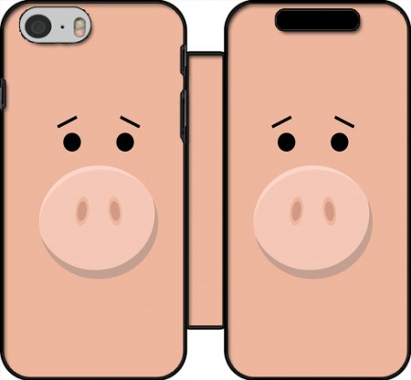 Wallet Case Pig Face for Iphone 6 4.7