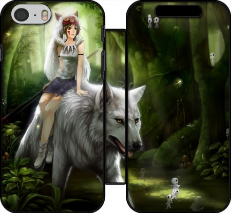 Wallet Case Princess Mononoke for Iphone 6 4.7