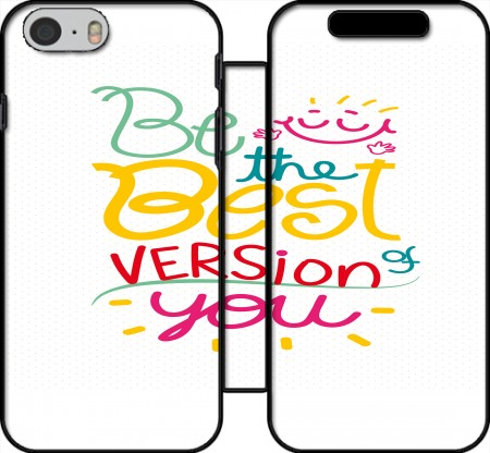 Wallet Case Quote : Be the best version of you for Iphone 6 4.7