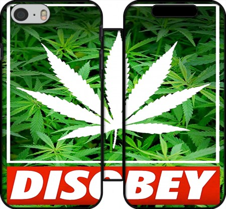 Wallet Case Weed Cannabis Disobey for Iphone 6 4.7