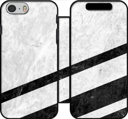 Wallet Case White Striped Marble for Iphone 6 4.7