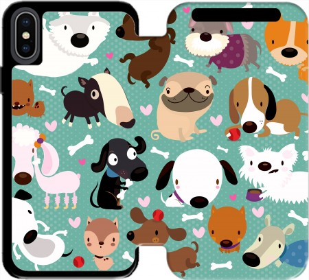 Wallet Case Dogs for Iphone X / Iphone XS