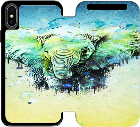 Wallet Case watercolor elephant for Iphone X / Iphone XS