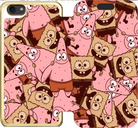 Wallet Case Chocolate Bob and Patrick for Iphone 7 / Iphone 8
