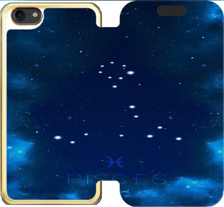 Wallet Case Constellations of the Zodiac: Pisces for Iphone 7 / Iphone 8