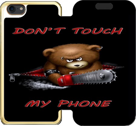 Wallet Case Don't touch my phone for Iphone 7 / Iphone 8
