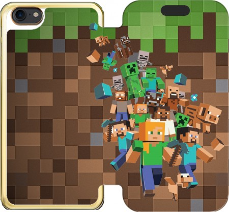 Wallet Case Minecraft Creeper Forest for Iphone 7 / Iphone 8