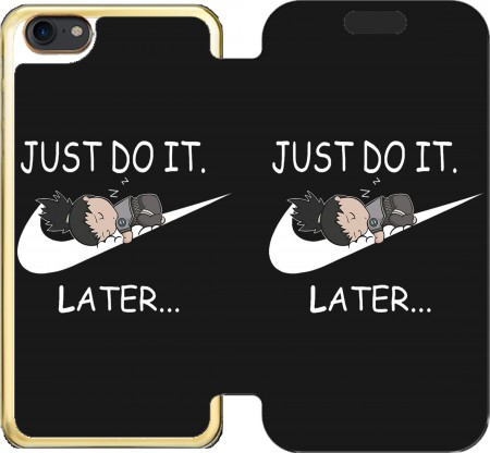 Wallet Case Nike Parody Just do it Later X Shikamaru for Iphone 7 / Iphone 8