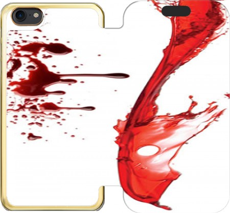 Wallet Case Pool of blood for Iphone 7 / Iphone 8