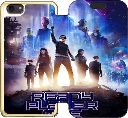 Wallet Case Ready Player One Cartoon Art for Iphone 7 / Iphone 8