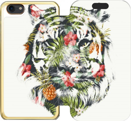 Wallet Case Tropical Tiger for Iphone 7 / Iphone 8