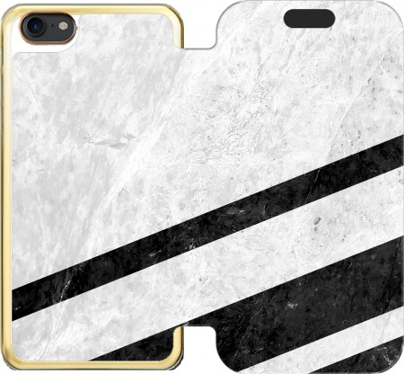 Wallet Case White Striped Marble for Iphone 7 / Iphone 8