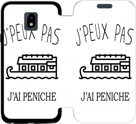 Wallet Case Je peux pasjai peniche for Samsung Galaxy J3 2017 Europe