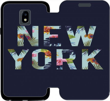Wallet Case New York Floral for Samsung Galaxy J3 2017 Europe