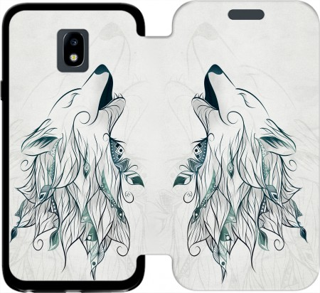 Wallet Case Wolf  for Samsung Galaxy J3 2017 Europe
