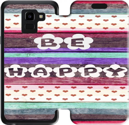 Wallet Case Be Happy Hippie for Samsung Galaxy J6 2018