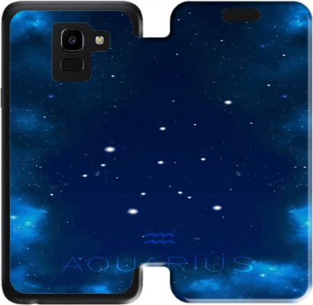 Wallet Case Constellations of the Zodiac: Aquarius for Samsung Galaxy J6 2018