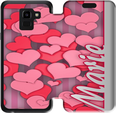 Wallet Case Heart Love - Marie for Samsung Galaxy J6 2018