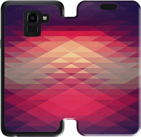 Wallet Case Hipster Triangles for Samsung Galaxy J6 2018
