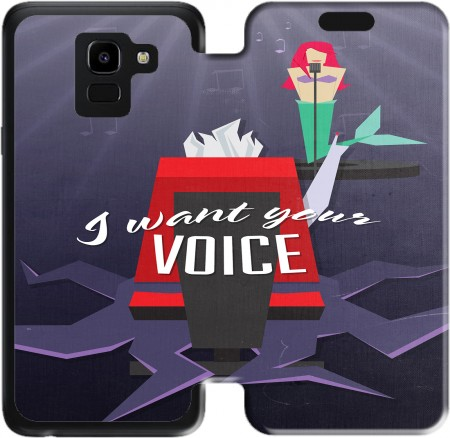 Wallet Case I Want Your Voice for Samsung Galaxy J6 2018