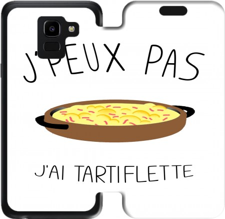 Wallet Case Je peux pas jai tartiflette for Samsung Galaxy J6 2018