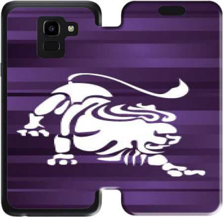 Wallet Case Lion - Sign of the zodiac for Samsung Galaxy J6 2018
