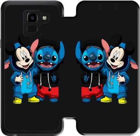 Wallet Case Stitch x The mouse for Samsung Galaxy J6 2018
