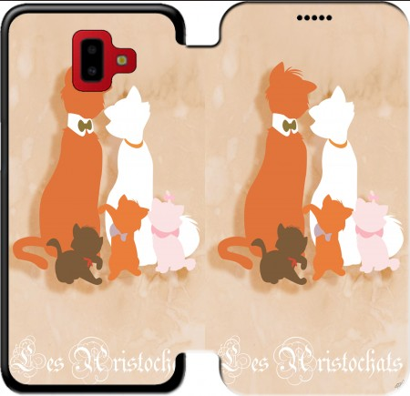 Wallet Case Les aristochats minimalist art for Samsung Galaxy J6+