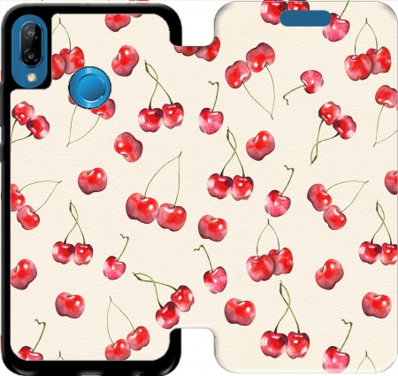 Wallet Case Cherry Pattern for Huawei P20 Lite / Nova 3e