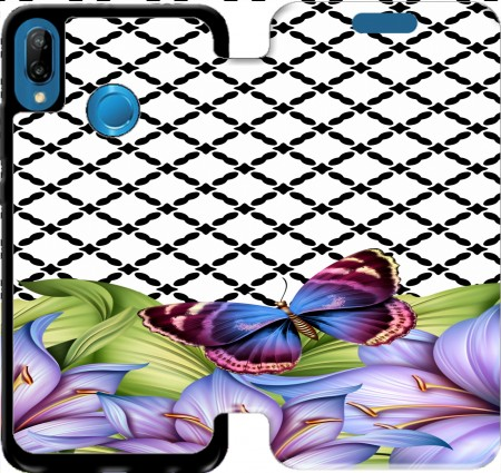 Wallet Case flower power Butterfly for Huawei P20 Lite / Nova 3e