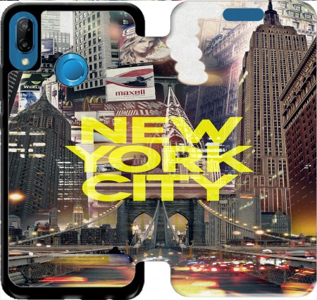 Wallet Case New York City II [yellow] for Huawei P20 Lite