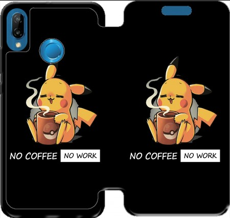 Wallet Case Pikachu Coffee Addict for Huawei P20 Lite