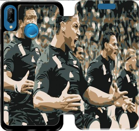 Wallet Case Rugby Haka for Huawei P20 Lite