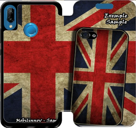Wallet Case Old-looking British flag for Huawei P20 Lite