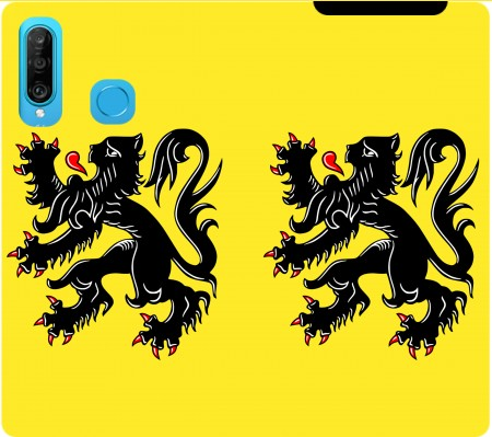 Wallet Case Lion des flandres for Huawei P30 Lite / Nova 4