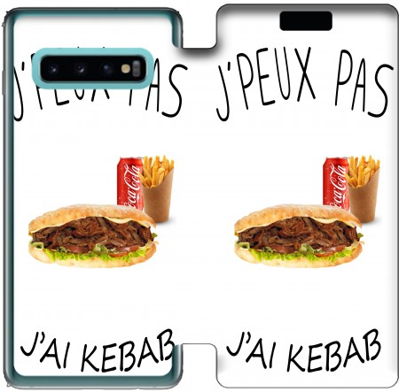 Wallet Case Je peux pas jai kebab for Samsung Galaxy S10
