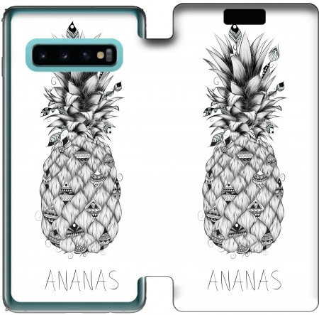 Wallet Case PineApplle for Samsung Galaxy S10